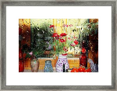 Kitchen Window Reverse Perspective Framed Print