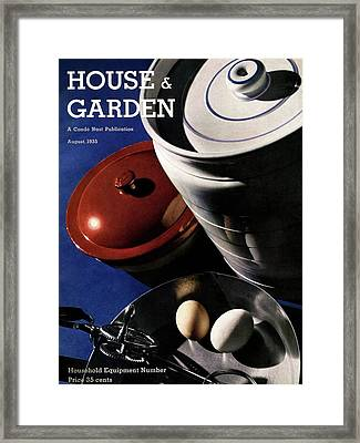 Kitchenware And Eggs Framed Print