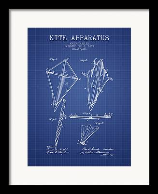Kites Digital Art Framed Prints