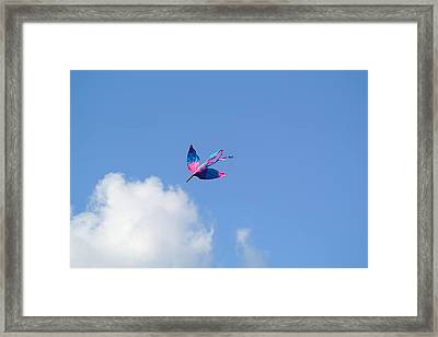 Framed Print featuring the photograph Kite At The Fort  by Toni Martsoukos