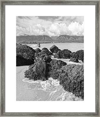Kite Beach Maui Hawaii Framed Print by Edward Fielding