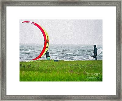 Kite Boarder Framed Print