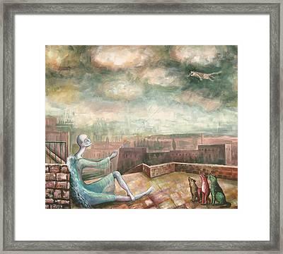 Kite-cat Framed Print