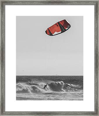 Kite Dont Fail Me Now Framed Print by Scott Campbell