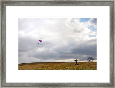 Kite Flying Framed Print by Bill Cannon
