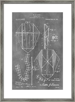 Kite Patent Framed Print