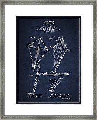 Kite Patent From 1892 Framed Print by Aged Pixel