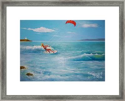 Kite Serf Framed Print