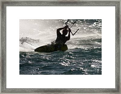 Kite Surfer 02 Framed Print by Rick Piper Photography