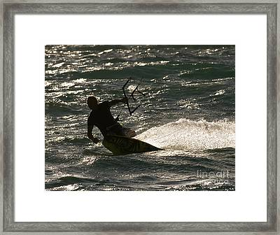 Kite Surfer 03 Framed Print by Rick Piper Photography