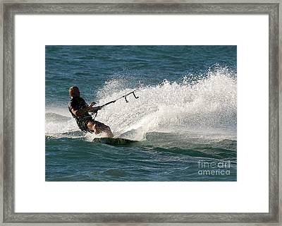 Kite Surfer 04 Framed Print by Rick Piper Photography