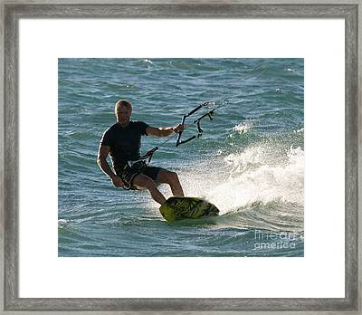 Kite Surfer 05 Framed Print by Rick Piper Photography