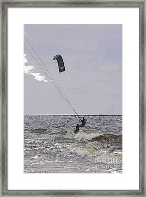 Kite Surfer Framed Print by Patricia Hofmeester