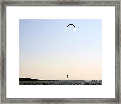 Kite Surfing Denmark Framed Print by Juan Romagosa