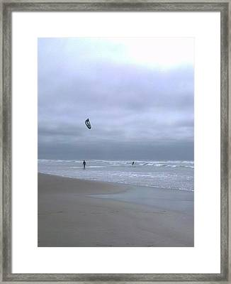 Kite Surfing Framed Print by Heather L Wright