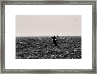 Kite Surfing Pose Framed Print