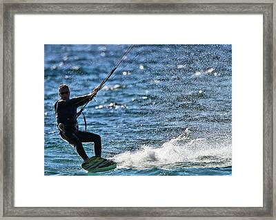 Kite Surfing Splash Framed Print