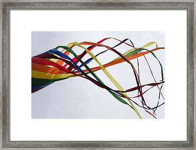 Framed Print featuring the photograph Kite  by Susan  McMenamin