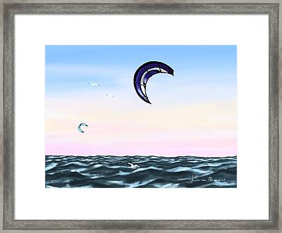 Kite Framed Print by Veronica Minozzi
