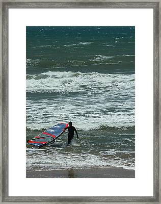 Kiteboarder Pacific Coast Highway Framed Print by Gail Maloney