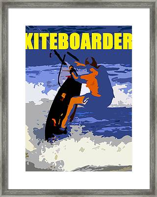 kITEBOARDER smart phone art Framed Print by David Lee Thompson