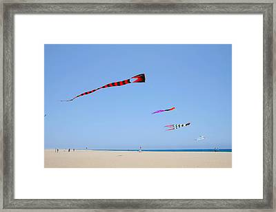 Kites Over Cabo Framed Print by Christine Till