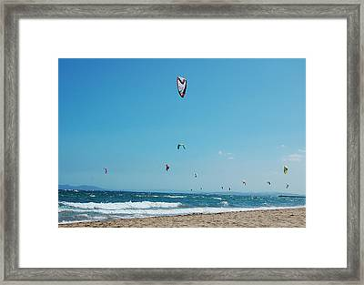 Kitesurf Lovers Framed Print