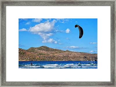 Kitesurfer 02 Framed Print by Antony McAulay
