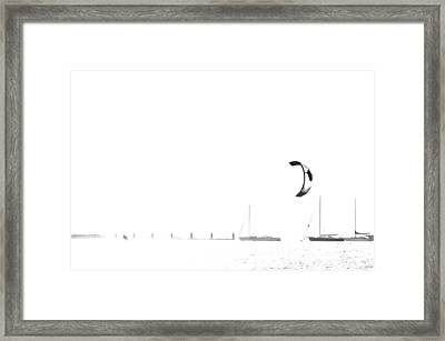 With Speed And Passion Framed Print by Damian Morphou