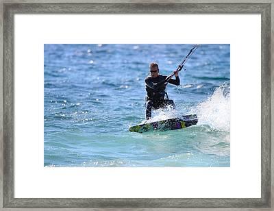 Kitesurfing Lake Michigan Framed Print