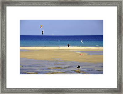 Framed Print featuring the photograph Kitesurfing Spot And Beach View At Melia Gorionez  by Julis Simo