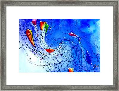 Kitewave Framed Print by Anne Duke