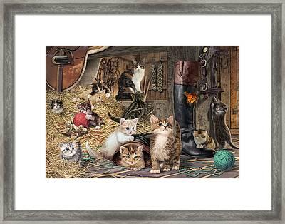 Kitten Capers Framed Print