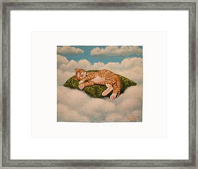 Kitten Dreams Framed Print by Reuven Gayle