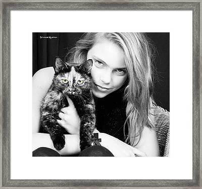 Framed Print featuring the photograph Kitten Eyes by Stwayne Keubrick