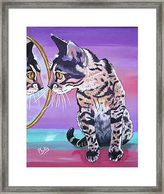 Framed Print featuring the painting Kitten Image by Phyllis Kaltenbach