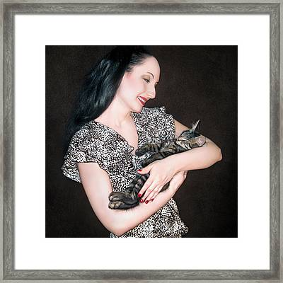 Kitten Love Framed Print