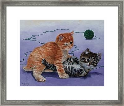 Kittens At Play Framed Print by Donna Munsch