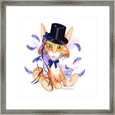 Kitticat Party Design Framed Print