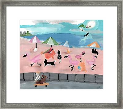 Kitties In Rio Framed Print by Artists With Autism Inc