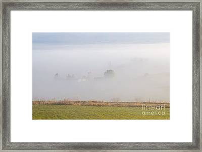 Kittitas Valley Farm Framed Print by Mike  Dawson