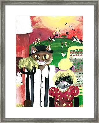 Kitty Farmer Framed Print by Artists With Autism Inc