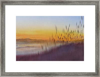 Kitty Hawk Daybreak - A Restatement Framed Print