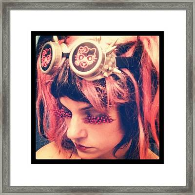 #kitty #hellokitty #steampunk #goggles Framed Print