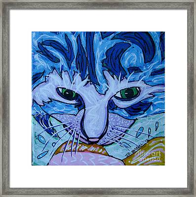 Kitty Framed Print by Susan Sorrell
