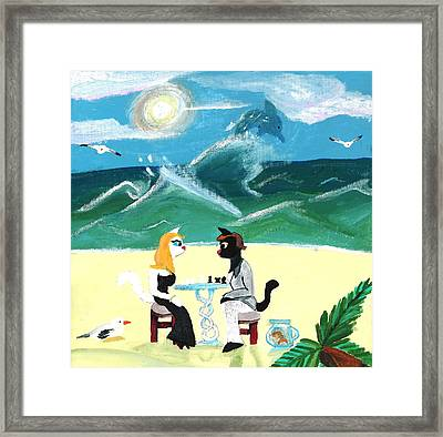 Kitty Twighlight Honeymoon Framed Print by Artists With Autism Inc