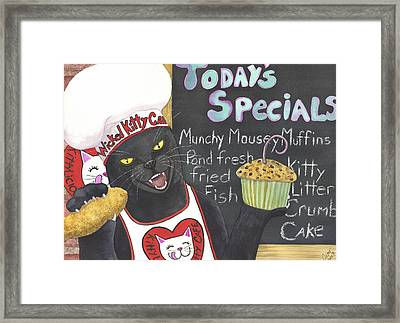 Kittylicious Framed Print by Catherine G McElroy