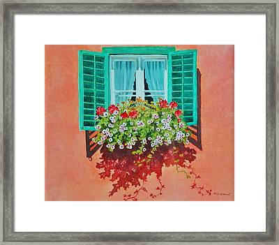 Kitzbuhel Window Framed Print by Mary Ellen Mueller Legault