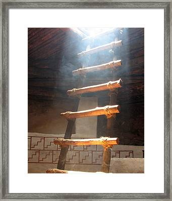 Framed Print featuring the photograph Kiva Ladder by Marcia Socolik