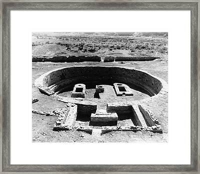 Kiva Ruins Framed Print